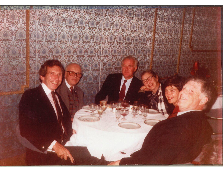Andrei Sakharov, Elena Bonner, John LeCarre, Robert and Helen Bernstein and me.