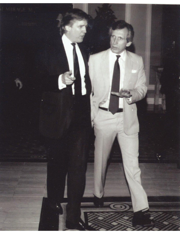 Donald Trump and me in Las Vegas, 1991.