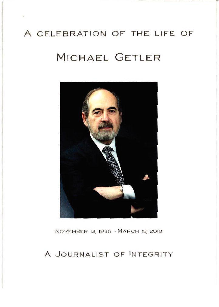 Michael Getler: A journalist of integrity