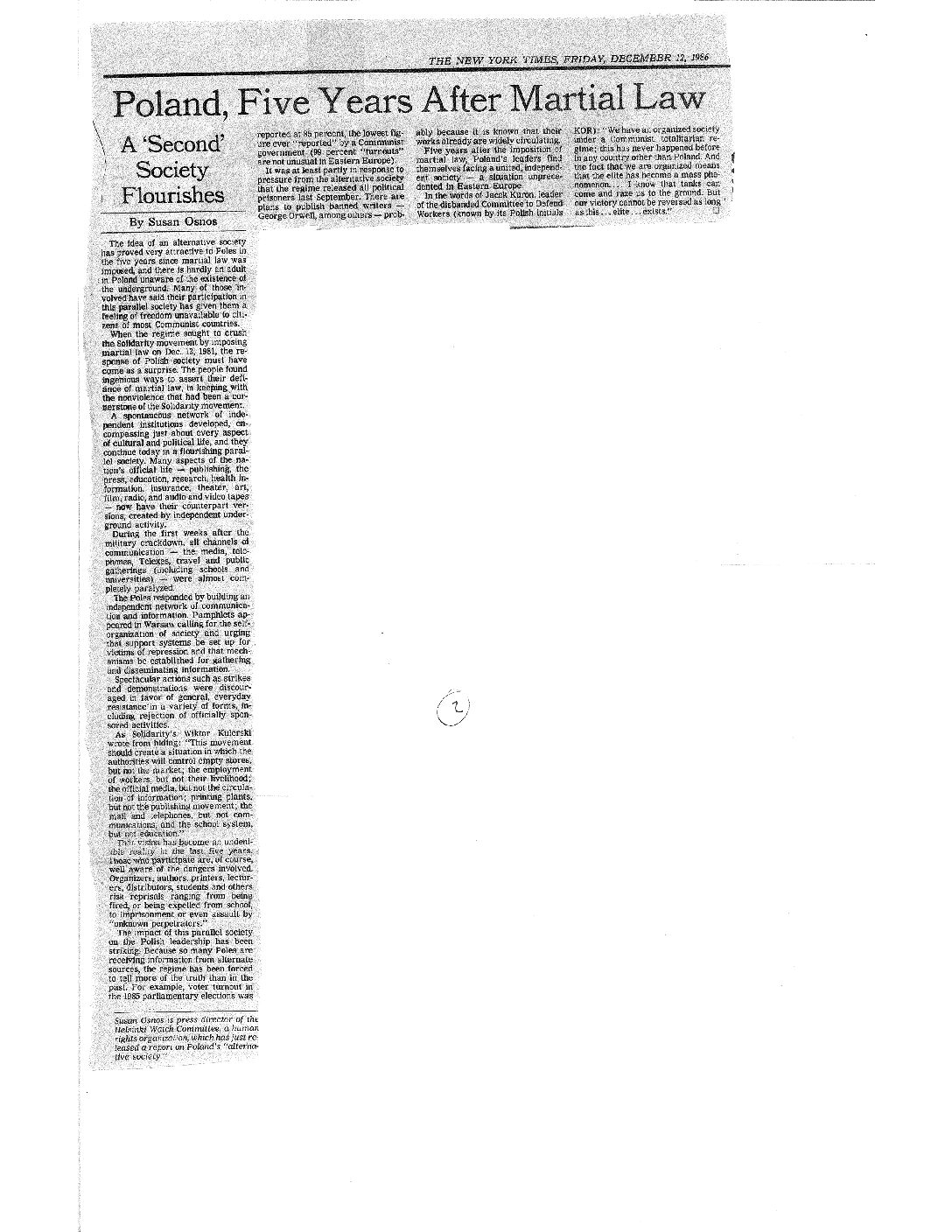 Op-ed in the New York Times (top of the page)