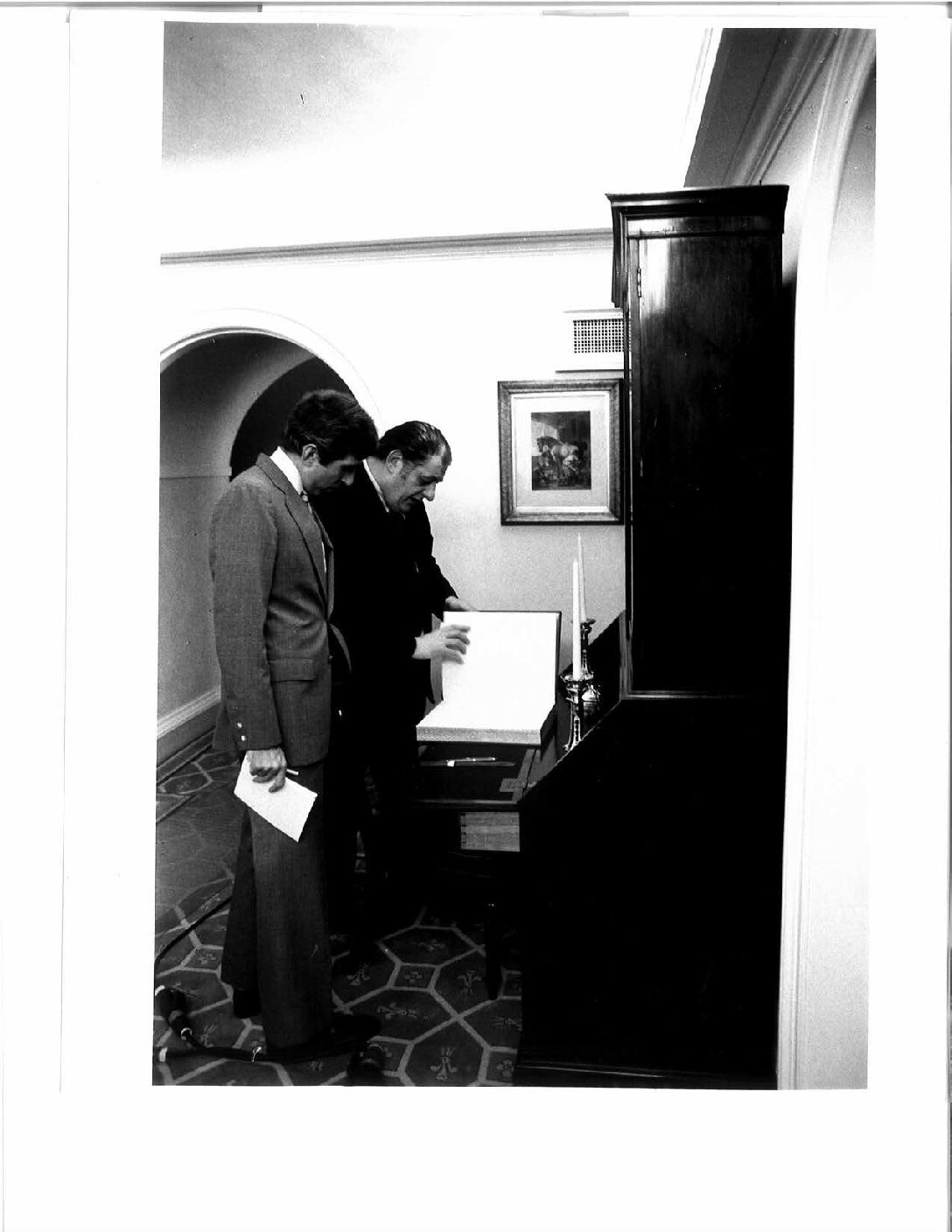 Signing in to interview Prince Charles with his valet