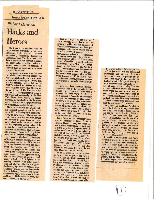 Dick Harwood and Hacks and me