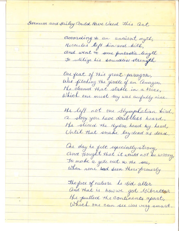 Suze writes for school
