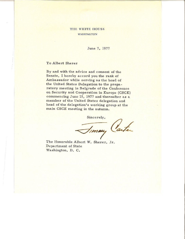 President Carter says thanks