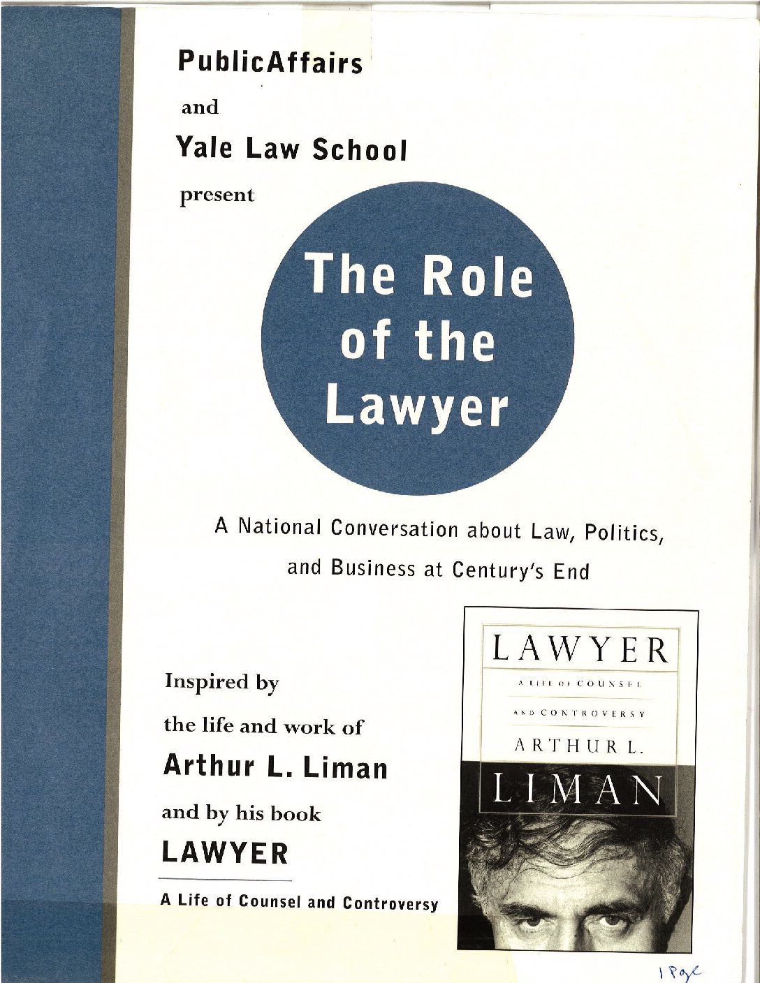 PA and Yale Law School, partners